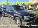 2002 Onyx Black Chevrolet Silverado 1500 LS Extended Cab 4x4 #123422188