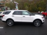 2017 White Platinum Ford Explorer Sport 4WD #123456879