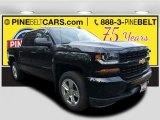 2018 Black Chevrolet Silverado 1500 Custom Crew Cab 4x4 #123456779