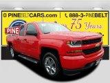 2018 Red Hot Chevrolet Silverado 1500 Custom Double Cab 4x4 #123469745