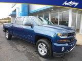 2018 Deep Ocean Blue Metallic Chevrolet Silverado 1500 LT Crew Cab 4x4 #123470008