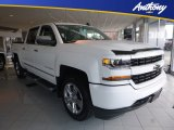 2018 Summit White Chevrolet Silverado 1500 Custom Crew Cab 4x4 #123470004
