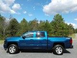 2016 Deep Ocean Blue Metallic Chevrolet Silverado 1500 LT Crew Cab 4x4 #123489469