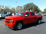 2018 Red Hot Chevrolet Silverado 1500 Custom Crew Cab #123489778