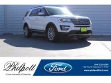 2017 White Platinum Ford Explorer Limited 4WD #123489623