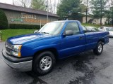 2004 Arrival Blue Metallic Chevrolet Silverado 1500 Regular Cab #123536588