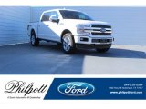 2018 White Platinum Ford F150 Platinum SuperCrew 4x4 #123536359
