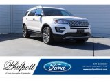 2017 White Platinum Ford Explorer Platinum 4WD #123536342