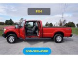 2012 Vermillion Red Ford F250 Super Duty XL SuperCab 4x4 #123536660