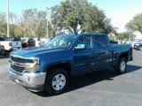 2018 Deep Ocean Blue Metallic Chevrolet Silverado 1500 LT Crew Cab #123536620