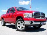 2007 Flame Red Dodge Ram 1500 Big Horn Edition Quad Cab 4x4 #12338555