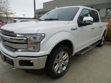 2018 White Platinum Ford F150 Lariat SuperCrew 4x4 #123616564