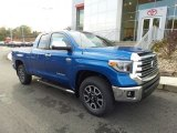 2018 Blazing Blue Pearl Toyota Tundra Limited Double Cab 4x4 #123616244