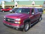 2006 Sport Red Metallic Chevrolet Silverado 1500 LT Crew Cab 4x4 #12341163