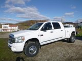 2008 Bright White Dodge Ram 3500 Laramie Mega Cab 4x4 Dually #123815844