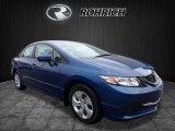 2015 Dyno Blue Pearl Honda Civic LX Sedan #123874792