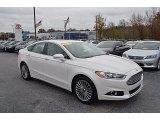 2015 White Platinum Metallic Ford Fusion Titanium #123874852