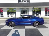 2016 Deep Impact Blue Metallic Ford Mustang EcoBoost Coupe #123898767