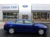 2015 Deep Impact Blue Metallic Ford Fusion SE #123898718