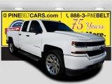 2017 Summit White Chevrolet Silverado 1500 Custom Double Cab 4x4 #123947979