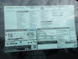 2017 Chevrolet Silverado 1500 WT Regular Cab 4x4 Window Sticker