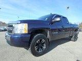 2009 Imperial Blue Metallic Chevrolet Silverado 1500 LT Extended Cab 4x4 #124004546