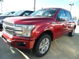 2018 Ruby Red Ford F150 Platinum SuperCrew 4x4 #124051440