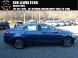 2018 Blue Metallic Ford Fusion SE AWD #124051337