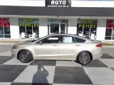 2017 White Gold Ford Fusion Titanium AWD #124075009