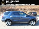 2017 Blue Jeans Ford Explorer Limited 4WD #124094469