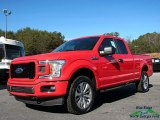2018 Race Red Ford F150 XL SuperCab 4x4 #124094315