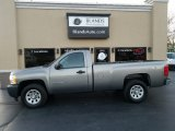 2008 Graystone Metallic Chevrolet Silverado 1500 Work Truck Regular Cab 4x4 #124166020