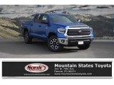 2018 Blazing Blue Pearl Toyota Tundra SR5 CrewMax 4x4 #124165769