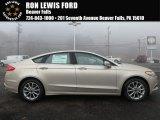 2017 White Gold Ford Fusion SE #124165856