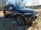2017 Diamond Black Crystal Pearl Jeep Grand Cherokee Overland 4x4 #124165807