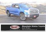2016 Blazing Blue Pearl Toyota Tundra Limited CrewMax 4x4 #124187702