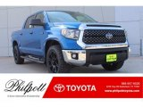 2018 Blazing Blue Pearl Toyota Tundra TSS CrewMax #124203087