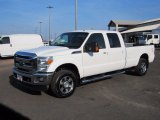 2015 Oxford White Ford F250 Super Duty Lariat Crew Cab 4x4 #124220226