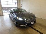 2018 Blue Metallic Ford Fusion SE #124281725