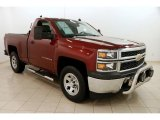 2014 Deep Ruby Metallic Chevrolet Silverado 1500 WT Regular Cab 4x4 #124305446