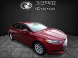 2016 Ruby Red Metallic Ford Fusion S #124305332