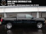 2018 Black Chevrolet Silverado 1500 Custom Crew Cab 4x4 #124362675