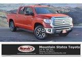 2016 Inferno Orange Toyota Tundra Limited CrewMax 4x4 #124382275