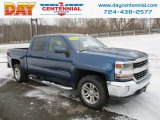 2016 Deep Ocean Blue Metallic Chevrolet Silverado 1500 LT Crew Cab 4x4 #124418468