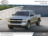2017 Silver Ice Metallic Chevrolet Silverado 1500 Custom Double Cab 4x4 #124502810