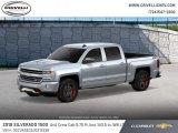 2018 Silver Ice Metallic Chevrolet Silverado 1500 LTZ Crew Cab 4x4 #124502887
