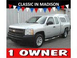 2011 Sheer Silver Metallic Chevrolet Silverado 1500 Extended Cab #124529916