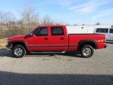 2002 Victory Red Chevrolet Silverado 1500 LS Crew Cab 4x4 #124530025