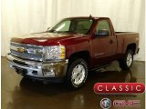 2013 Deep Ruby Metallic Chevrolet Silverado 1500 LT Regular Cab 4x4 #124821962