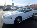 2000 Crystal White Ford Mustang V6 Coupe #124842861